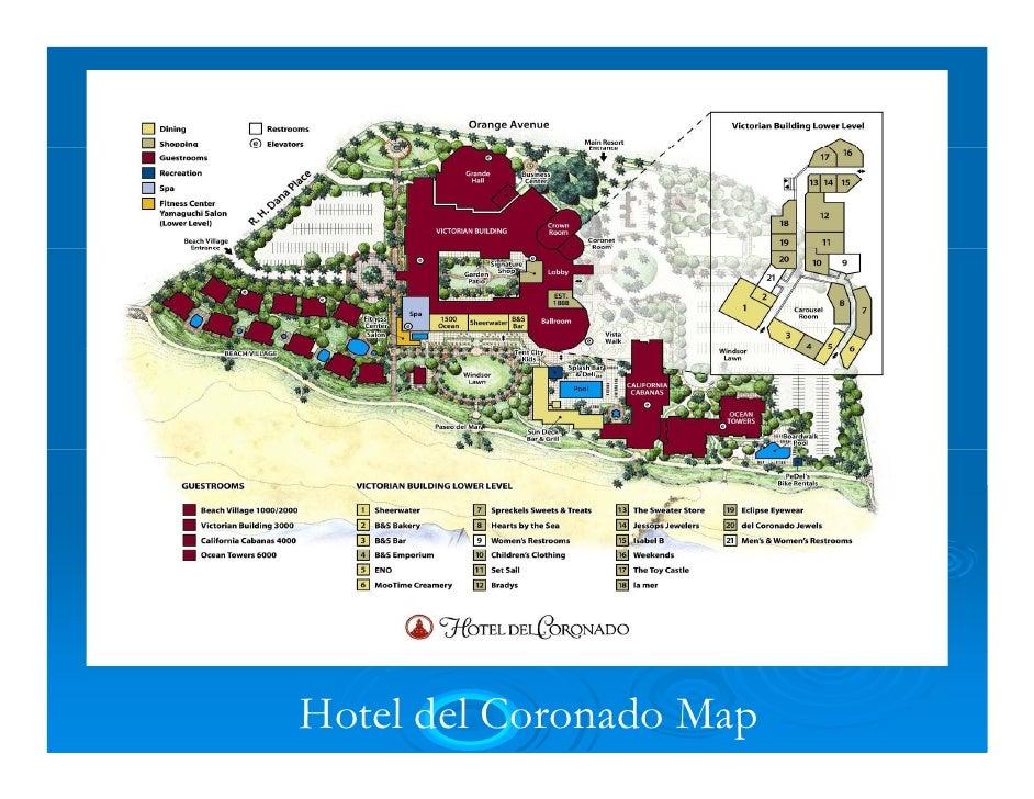 Hotel Del Coronado Resort Map