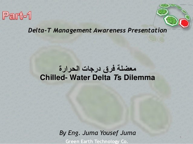 1 ‫معضلة‬‫الحرارة‬ ‫درجات‬ ‫فرق‬ Chilled- Water Delta Ts Dilemma By Eng. Juma Yousef Juma Delta-T Management Awareness Pre...