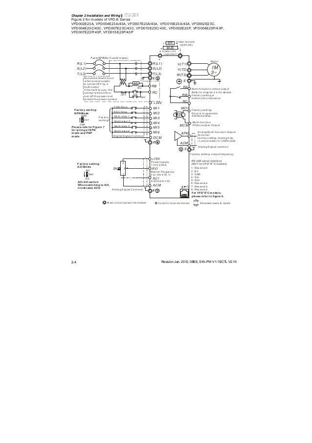 delta vfd e user manual VFD Wiring Schematic