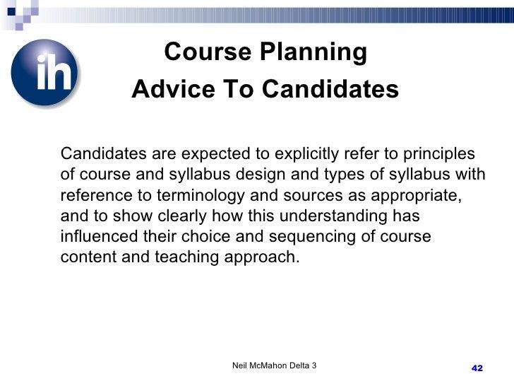 Delta 3 Curriculum Syllabus Design And Course Planning
