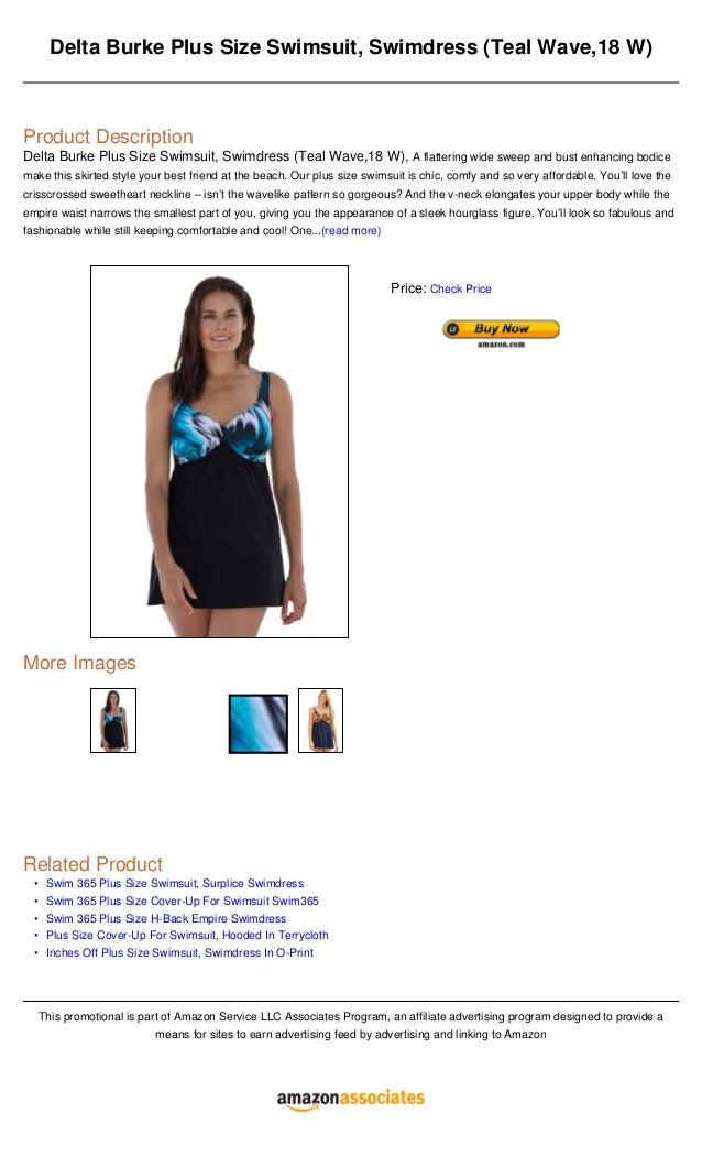 4ec3625c08629 Delta burke plus size swimsuit, swimdress (teal wave,18 w)