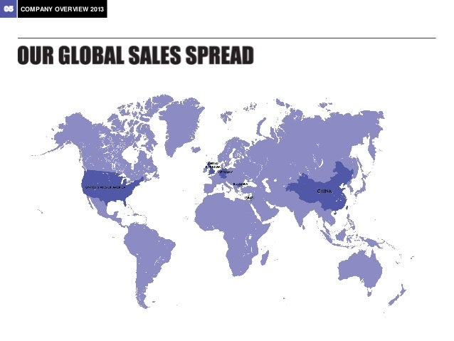 06  COMPANY OVERVIEW 2013  Middle East  23% Europe  9%  Far East  68%