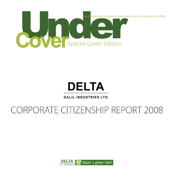"!""#$%        Worldwide Delta Employee Newsletter Issue no. 4 December 2009     !""#$%   Special Green Edition"