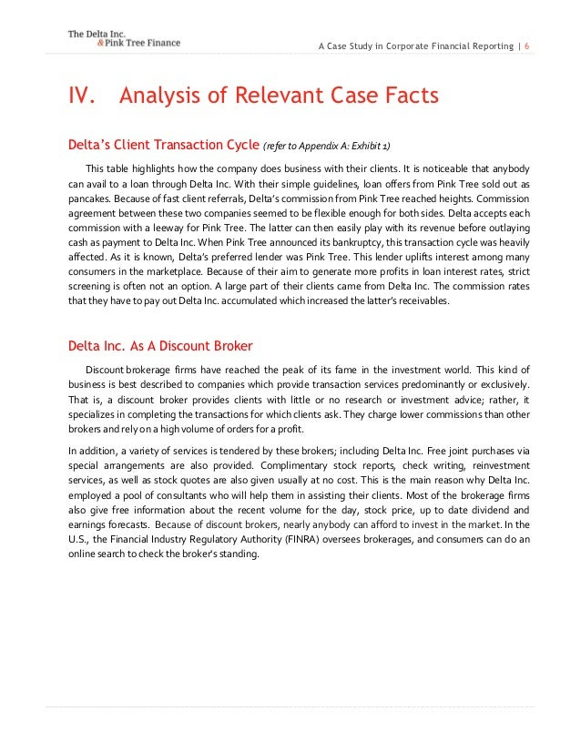 case study on delta inc In the social sciences and life sciences, a case study is a research method involving an up-close, in-depth, and detailed examination of a subject of study (the case), as well as its related contextual conditions case studies can be produced by following a formal research method these case studies are likely to appear in formal research.