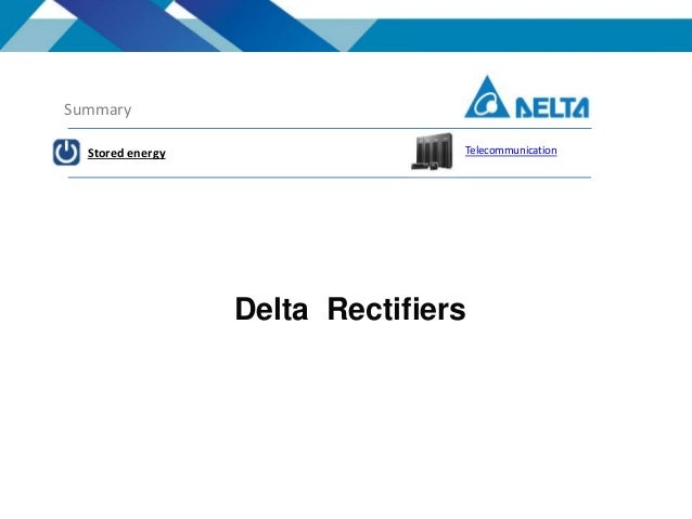 Delta products overview
