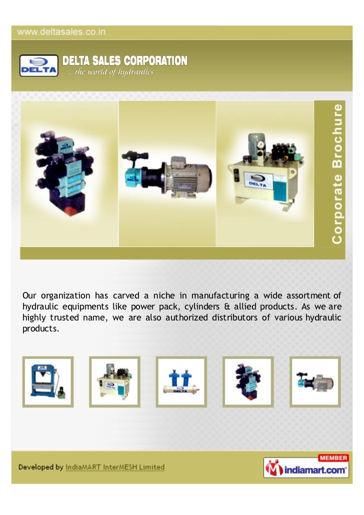 Our organization has carved a niche in manufacturing a wide assortment ofhydraulic equipments like power pack, cylinders &...