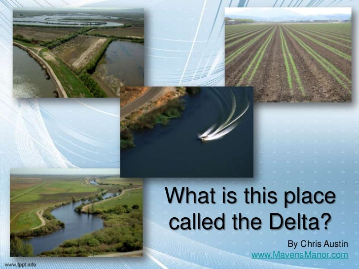 What is this placecalled the Delta?                By Chris Austin         www.MavensManor.com