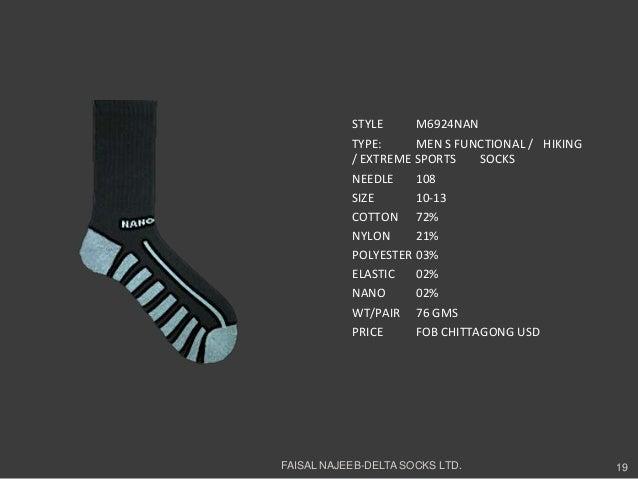 STYLE M6924NANTYPE: MEN S FUNCTIONAL / HIKING/ EXTREME SPORTS SOCKSNEEDLE 108SIZE 10-13COTTON 72%NYLON 21%POLYESTER 03%ELA...
