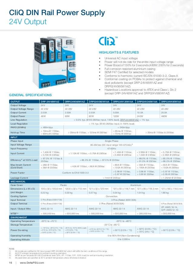 Delta PMR-5V320WDAA Switching Power Supplies 5V 300W 215 x 115 x 30 mm
