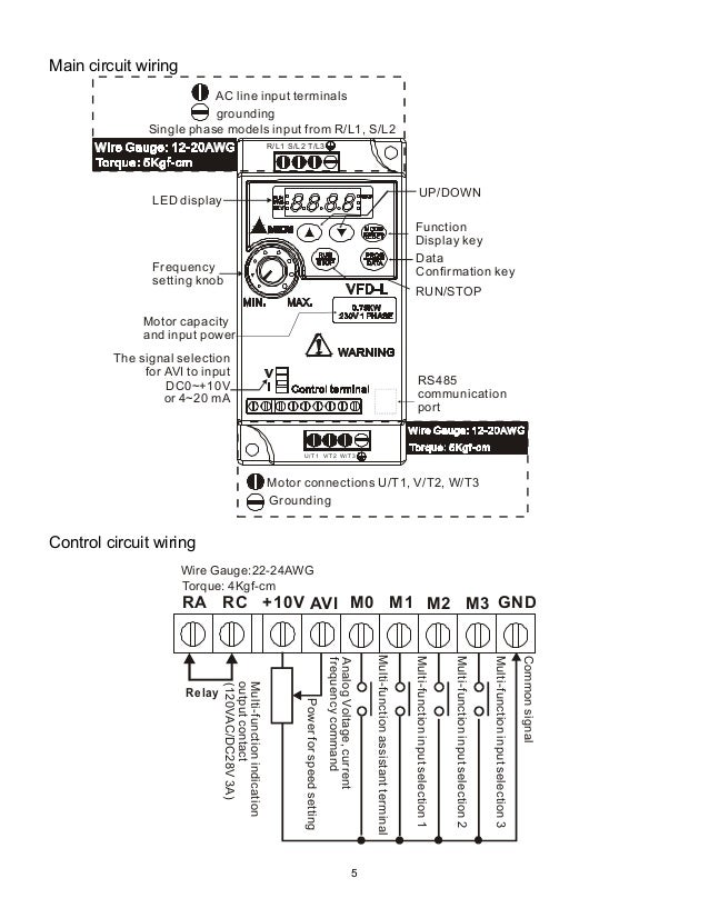 Delta vfd el wiring diagram images
