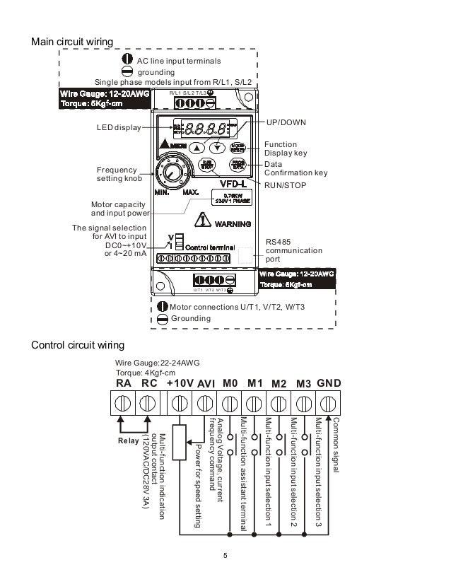delta inverter wiring diagram
