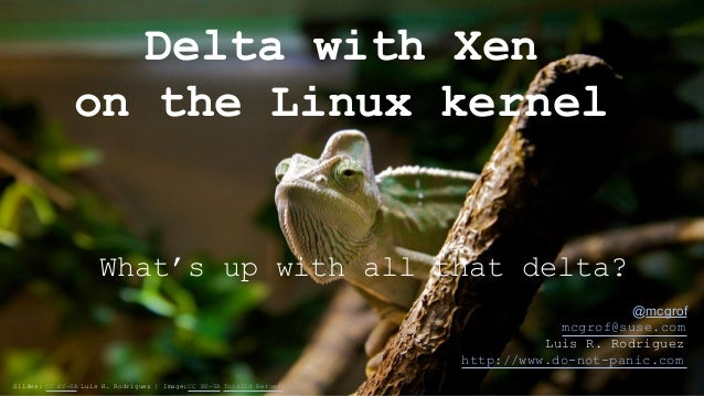 Delta with Xen  on the Linux kernel  What's up with all that delta?  @mcgrof  mcgrof@suse.com  Luis R. Rodriguez  http://w...
