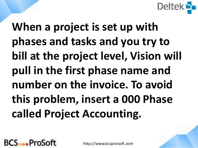Improve Billing Process and Performance with Deltek Vision