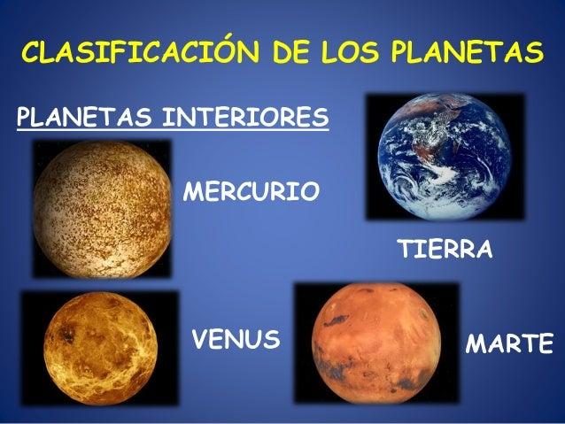 Del universo a la tierra 2 un viaje por le sistema solar - Caracteristicas de los planetas interiores ...