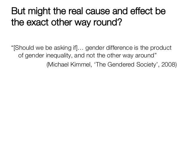 Gender inequalities and gender differences in the gendered society a book by michael kimmel