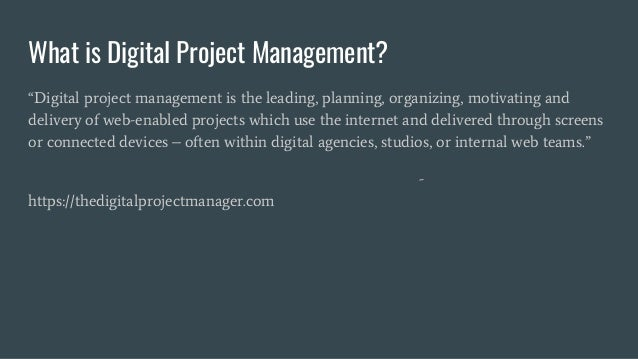 Delusions of grandeur and the reality of agency project management Slide 3