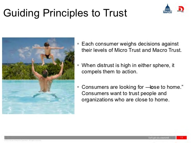Guiding Principles to Trust                                                            Each consumer weighs decisions aga...