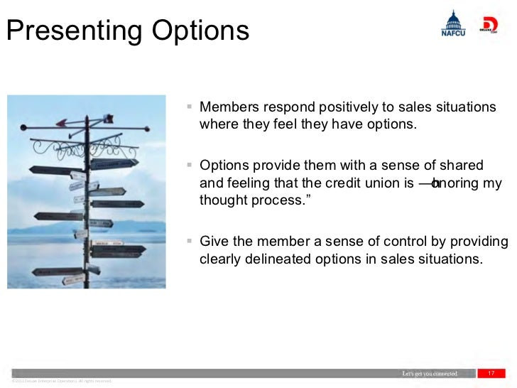 Presenting Options                                                            Members respond positively to sales situati...