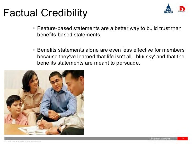 Factual Credibility                                           Feature-based statements are a better way to build trust th...