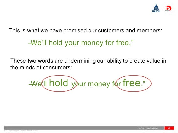 This is what we have promised our customers and members:                                       ―                          ...