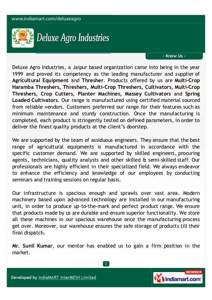 Deluxe Agro Industries, Jaipur, Cultivator Slide 2