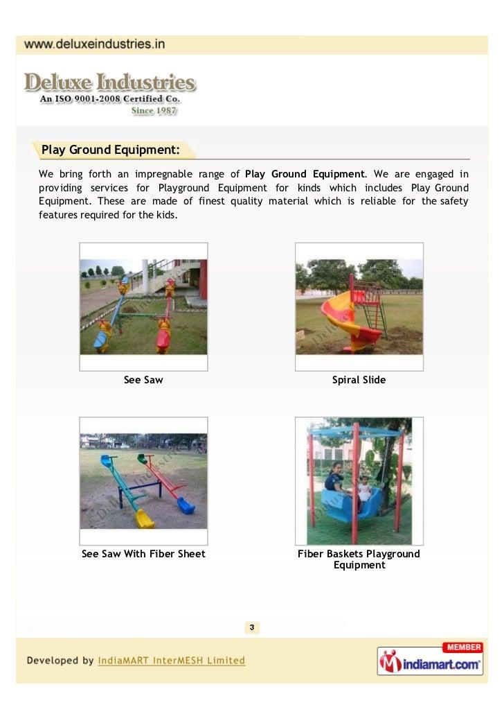 Deluxe Industries, Mohali, Children Play Equipment Slide 3