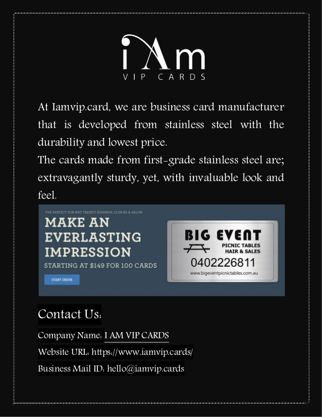 Custom Metal VIP Cards for Business: Iamvip.cards