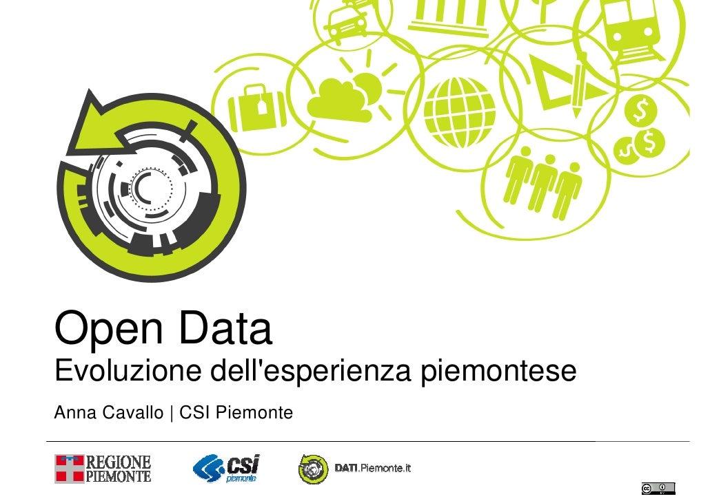 Open DataEvoluzione dellesperienza piemonteseAnna Cavallo | CSI Piemonte
