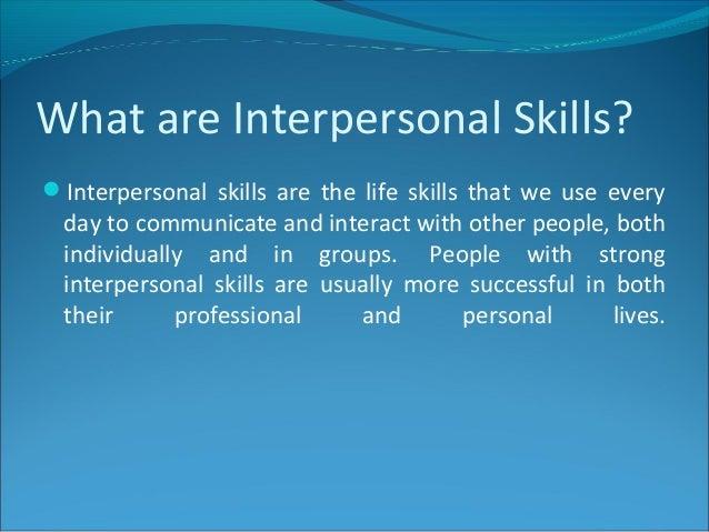 define interpersonal skills