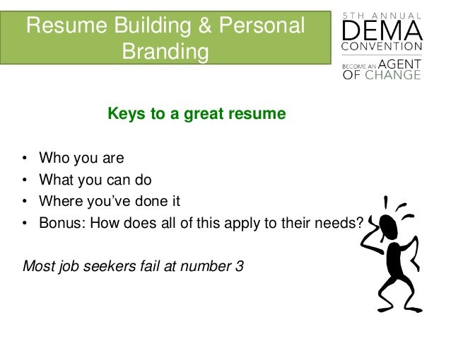resume building - Building A Great Resume