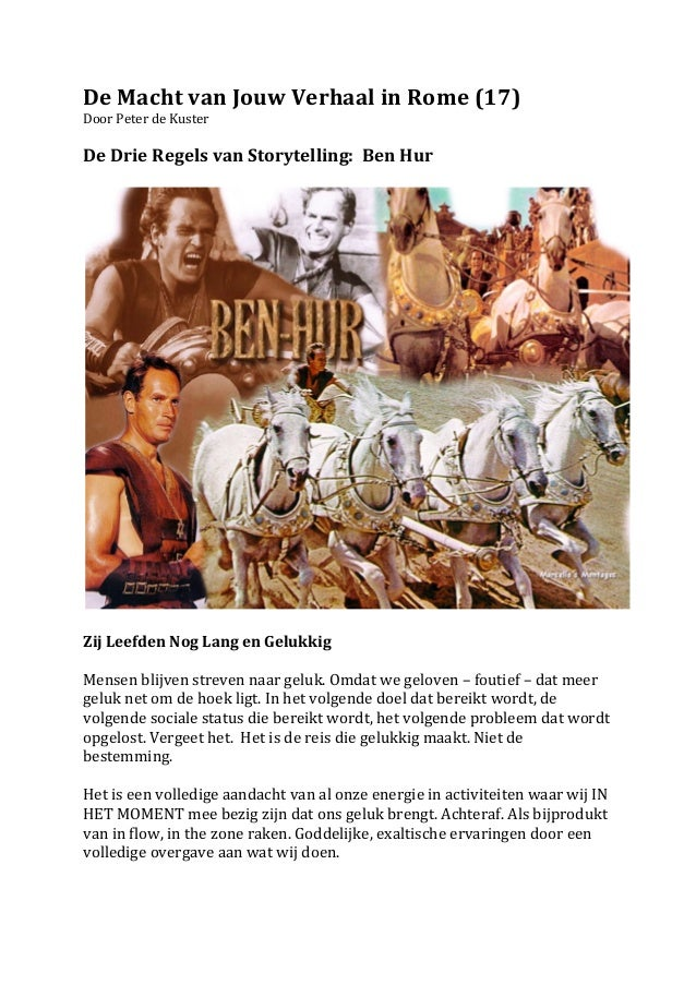 De Macht van Jouw Verhaal in Rome (17) Door Peter de Kuster  De Drie Regels van Storytel...