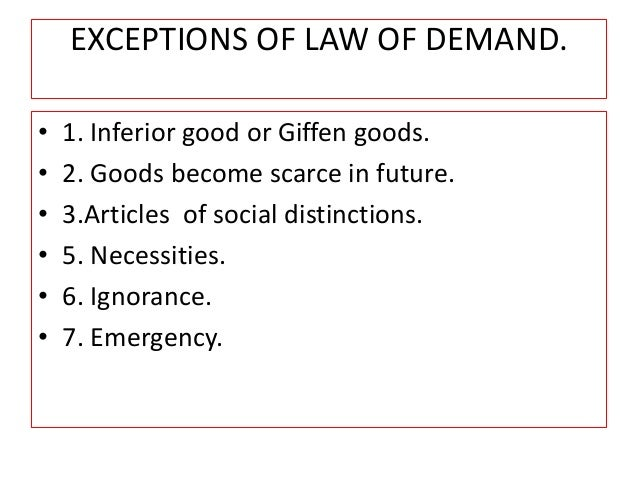law of demand articles