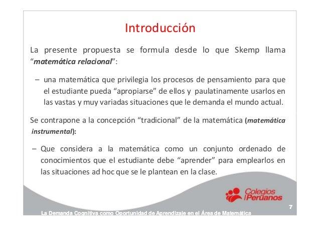 """Introducción La presente propuesta se formula desde lo que Skemp llama """"matemática relacional"""": – una matemática que privi..."""
