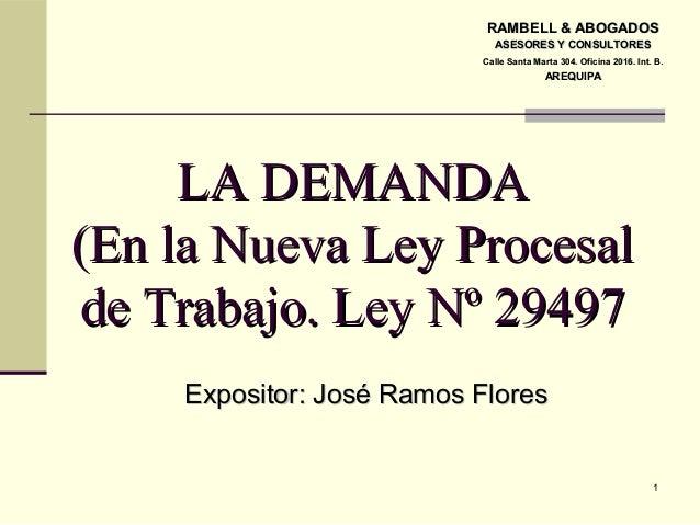 Demanda laboral conforme a la ley 29497 nlpt for Consulta demanda de empleo
