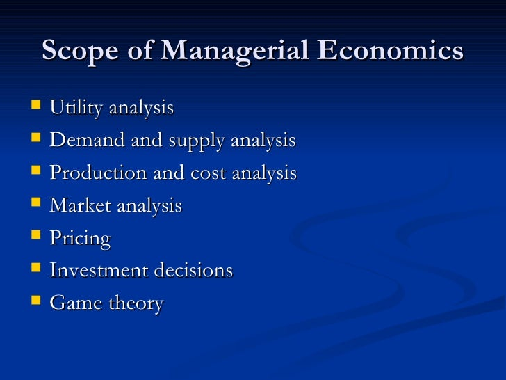 the scope of economic analysis Comparative analysis of organic and the last decades have seen a proliferation of economic studies that have analysis of profitability studies 21 scope of.