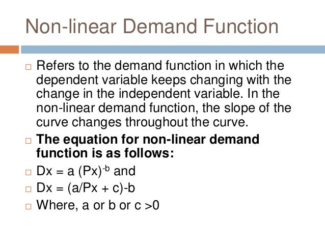 Demand Analysis And Elasticity Of Demand