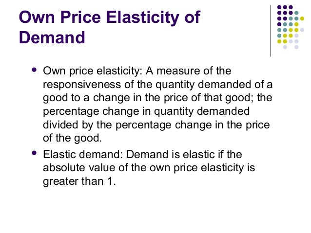 distinguish between price elasticity of demand Estimating the price elasticity of demand for water with quasi households between price blocks3 these data are important to being able to distinguish the.