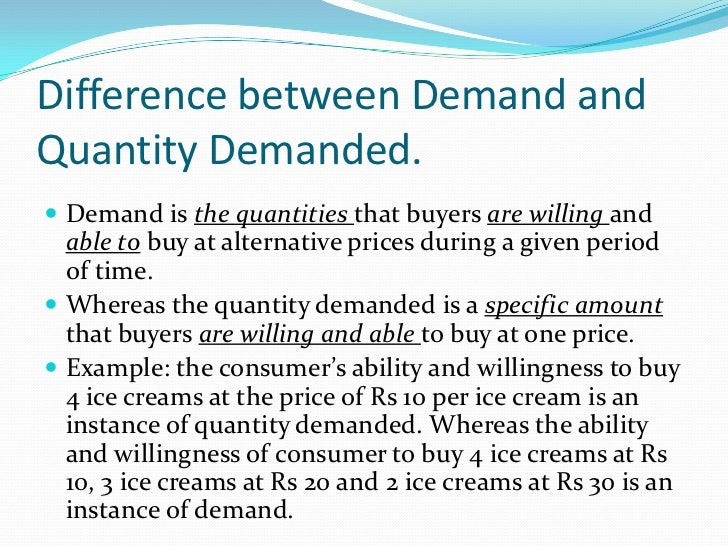 the difference between demand and quantity Visit:.