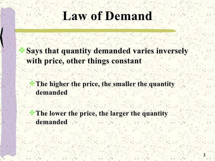 an analysis of the law of supply and demand Supply and demand are perhaps the but unlike the law of demand, the supply because the record company's previous analysis showed that consumers.
