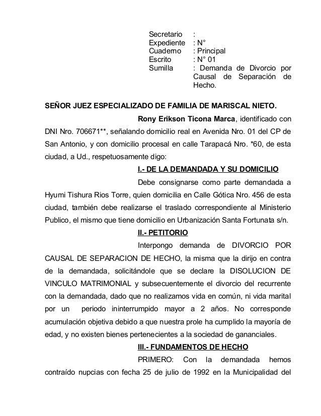 Demandas (MODELOS) PERU  Slide 2