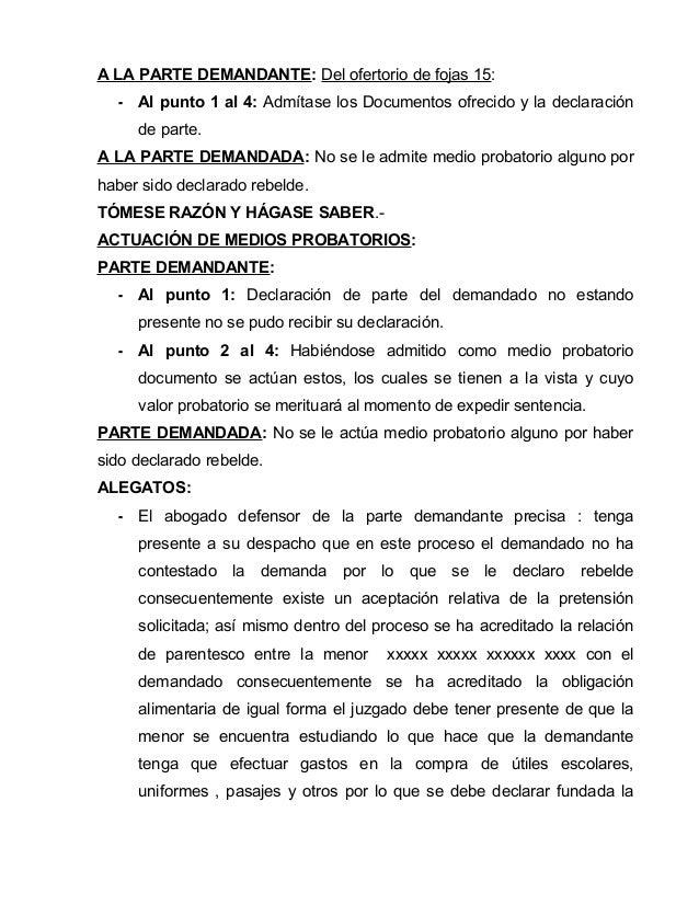Demandas (MODELOS) PERU