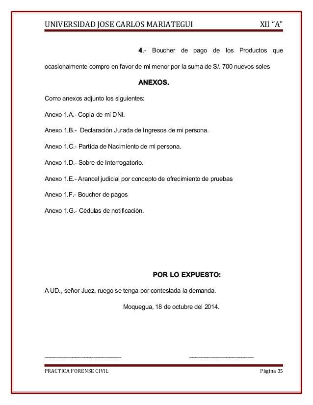 """UNIVERSIDAD JOSE CARLOS MARIATEGUI XII """"A""""  4.- Boucher de pago de los Productos que  ocasionalmente compro en favor de mi..."""