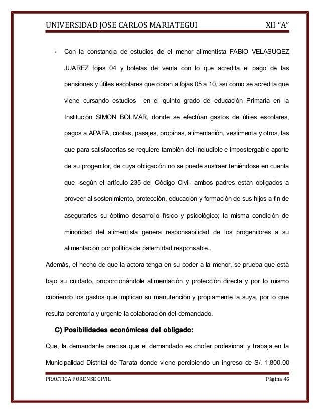 """UNIVERSIDAD JOSE CARLOS MARIATEGUI XII """"A""""  - Con la constancia de estudios de el menor alimentista FABIO VELASUQEZ  JUARE..."""