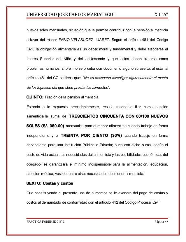 """UNIVERSIDAD JOSE CARLOS MARIATEGUI XII """"A""""  nuevos soles mensuales, situación que le permite contribuir con la pensión ali..."""