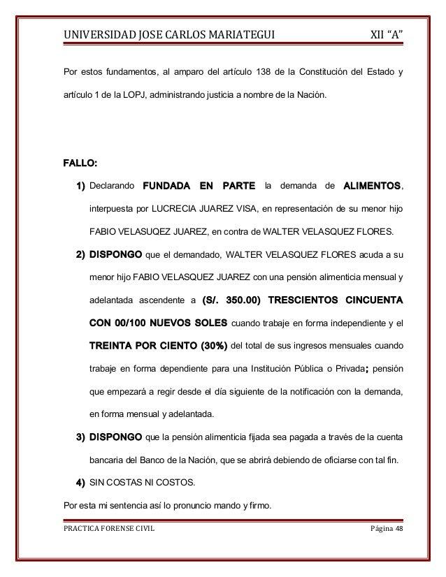 """UNIVERSIDAD JOSE CARLOS MARIATEGUI XII """"A""""  Por estos fundamentos, al amparo del artículo 138 de la Constitución del Estad..."""