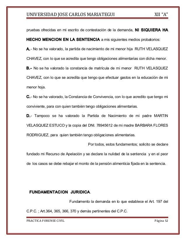 """UNIVERSIDAD JOSE CARLOS MARIATEGUI XII """"A""""  pruebas ofrecidas en mi escrito de contestación de la demanda, NI SIQUIERA HA ..."""