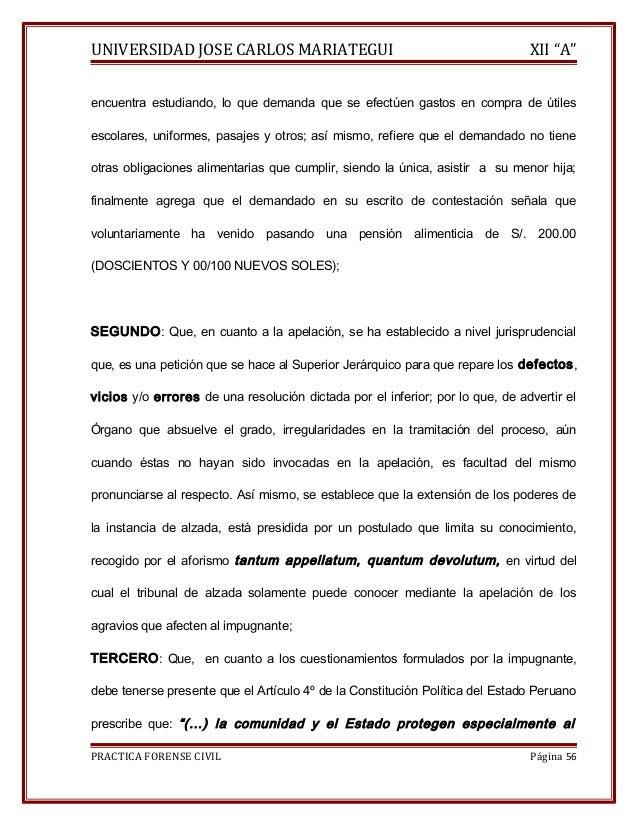 """UNIVERSIDAD JOSE CARLOS MARIATEGUI XII """"A""""  encuentra estudiando, lo que demanda que se efectúen gastos en compra de útile..."""