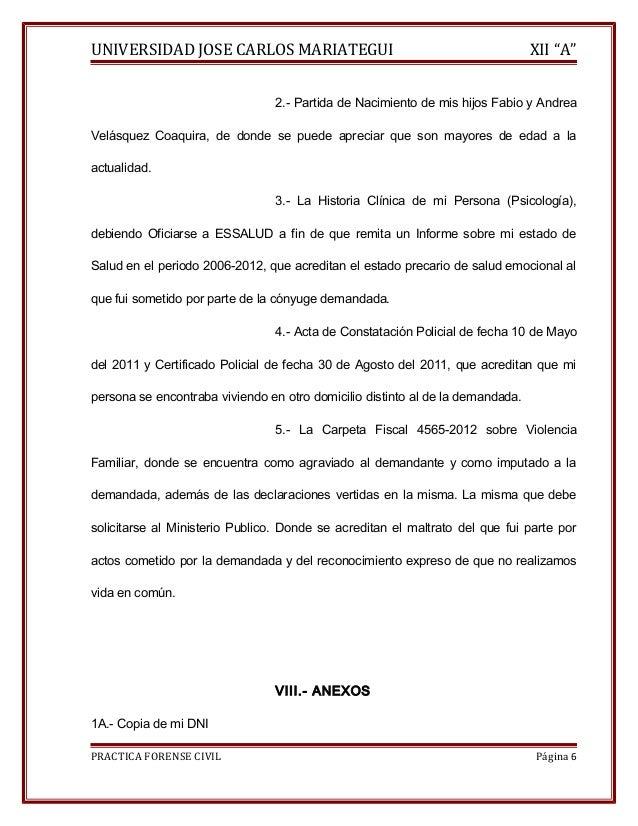"""UNIVERSIDAD JOSE CARLOS MARIATEGUI XII """"A""""  2.- Partida de Nacimiento de mis hijos Fabio y Andrea  Velásquez Coaquira, de ..."""