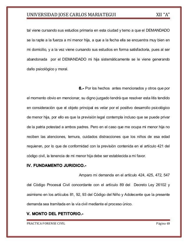"""UNIVERSIDAD JOSE CARLOS MARIATEGUI XII """"A""""  tal viene cursando sus estudios primaria en esta ciudad y temo a que el DEMAND..."""