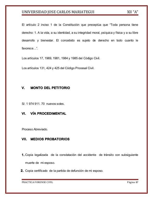 """UNIVERSIDAD JOSE CARLOS MARIATEGUI XII """"A""""  El artículo 2 inciso 1 de la Constitución que preceptúa que """"Toda persona tien..."""